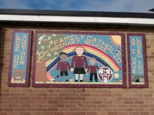 Part of a whole school project for Holy Family Primary School.