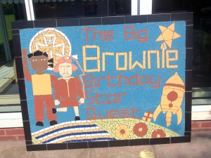 A small mural created by Birmingham Brownies as part of their anniversary.