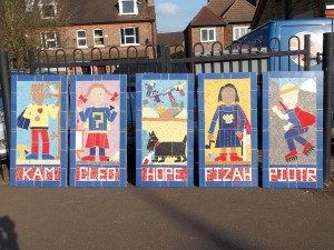 A keystage 2 project to create super hero values for Central Primary School.