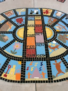 Sundial created for a Bloor Homes development with two local primary schools.