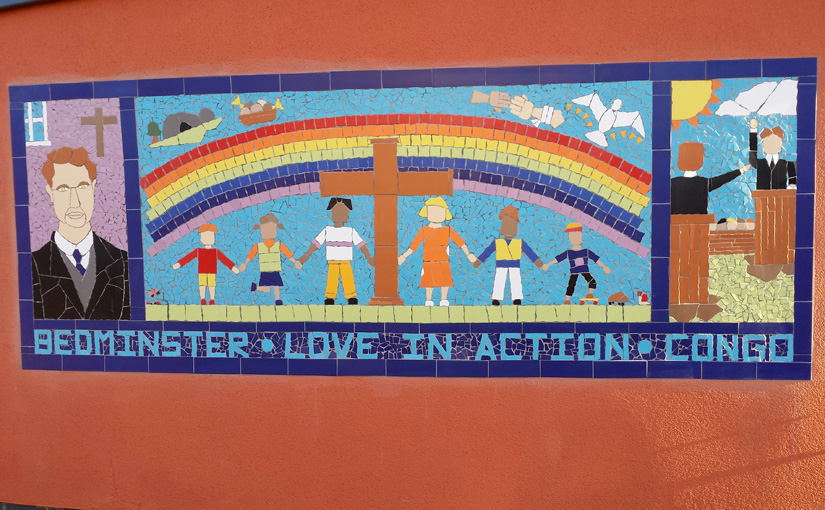 Large mural created for Victoria Park Baptist Church by their congregation and the local community.